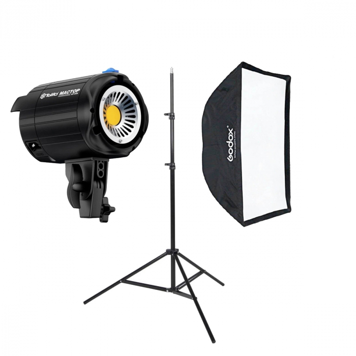 Tolifo Lampa LED Daylight cu softbox 60x60cm si stativ 0