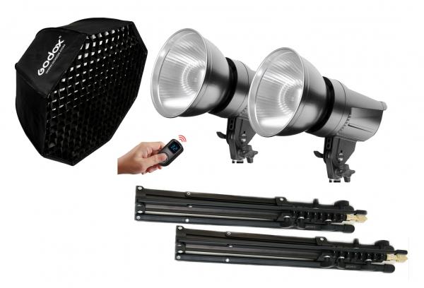 Tolifo T-600BL Kit lumina LED Bicolor Octo 95cm 0