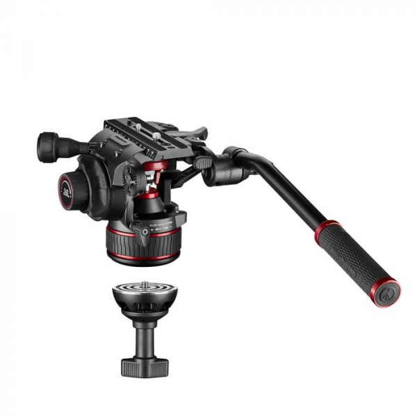 Manfrotto Nitrotech 608 kit trepied video mid-spreader 1