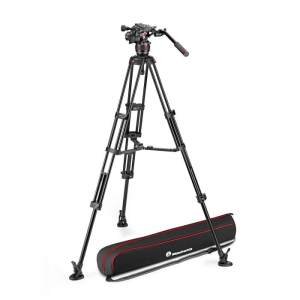 Manfrotto Nitrotech 608 kit trepied video mid-spreader 0