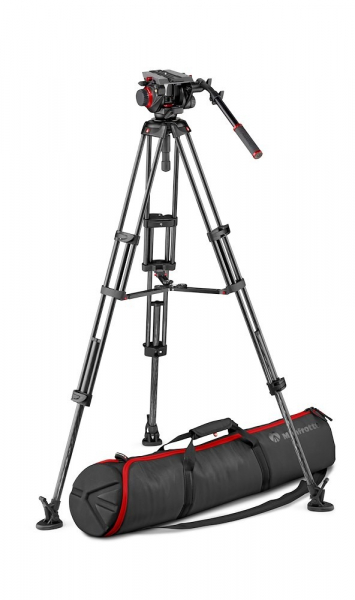 Manfrotto MVK504 Kit trepied video carbon mid-spreader 0