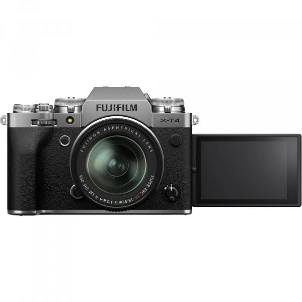 Fujifilm X-T4 Aparat Foto Mirrorless Kit cu Obiectiv 18-55 mm f2.8-4 Argintiu [4]