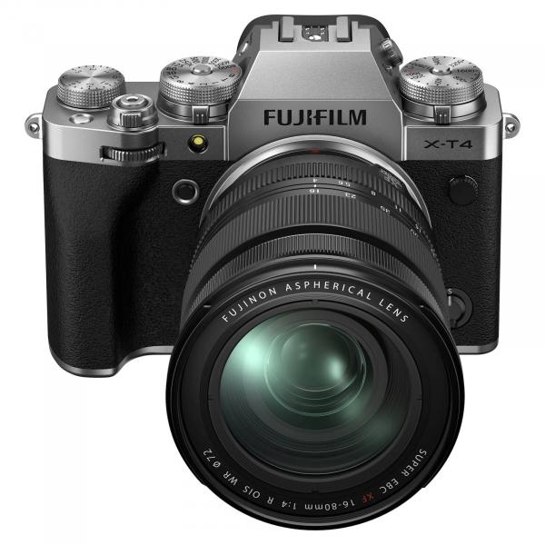 Fujifilm X-T4 Aparat Foto Mirrorless Kit cu Obiectiv 16-80 mm F.4 Argintiu 2