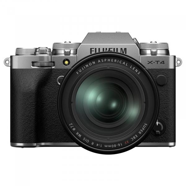 Pachet Fujifilm X-T4 Aparat Foto Mirrorless Kit cu Obiectiv 16-80 mm F.4 Argintiu+Manfrotto Rucsac Hover-25 0