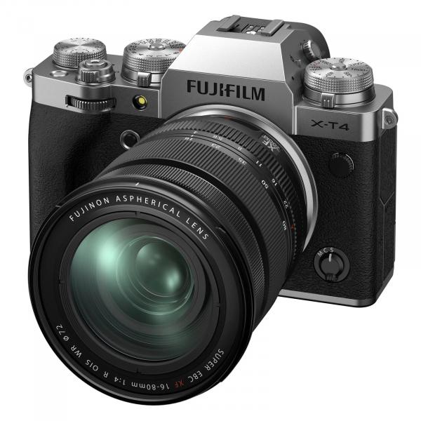 Fujifilm X-T4 Aparat Foto Mirrorless Kit cu Obiectiv 16-80 mm F.4 Argintiu 1