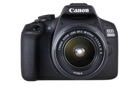 Canon EOS 2000D 24.1MP Kit Aparat foto cu obiectiv EF-S 18-55mm IS II cu Stabilizare [1]