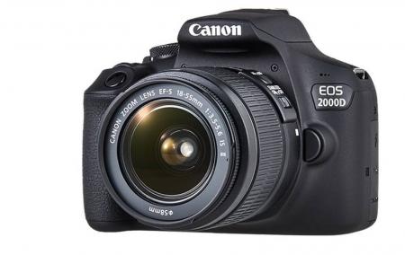 Canon EOS 2000D 24.1MP Kit Aparat foto cu obiectiv EF-S 18-55mm IS II cu Stabilizare [2]