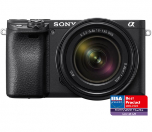 Pachet Sony Kit Aparat Foto Mirrorless Alpha A6400 24.2 MP cu Obiectiv 18-135mm +Manfrotto GPM0
