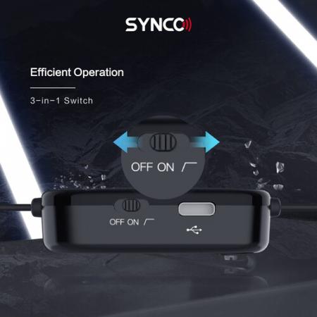 Synco Lav-S6M2 Lavaliera cu monitorizare Real-Time si Gain Control [11]