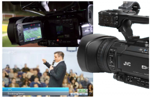 JVC GY-HM250ESB Camera video 4K Live Streaming Sport1