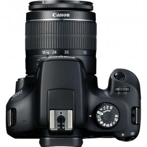 Canon EOS 4000D Kit Aparat Foto DSLR 18MP cu Obiectiv EF-S 18- 55mm f/3.5-5.6 III Negru [1]