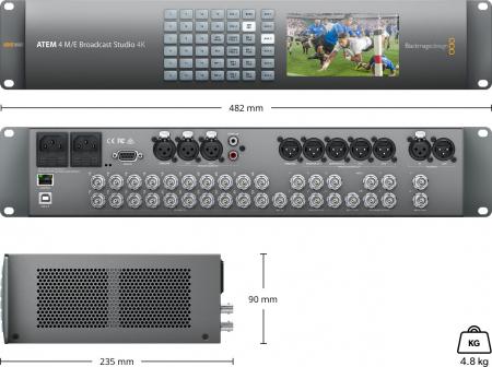 Blackmagic Design ATEM 4 M/E Broadcast Studio Switcher 4K2
