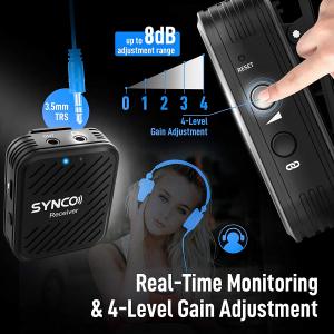 Synco G1 Lavaliera Wireless cu microfon incorporat9