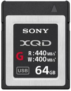 Sony Card memorie XQD 64GB Serie G 400MB/s