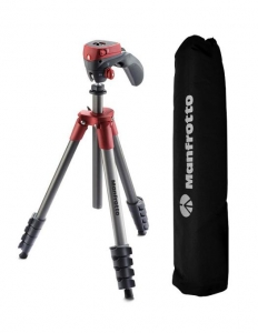 Manfrotto kit trepied Compact Action Red