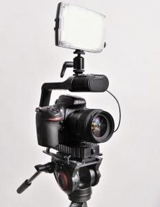 MicRig Stereo maner cu microfon pentru camere video5