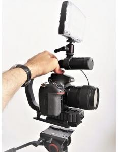 MicRig Stereo maner cu microfon pentru camere video4