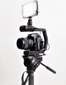 MicRig Stereo maner cu microfon pentru camere video6
