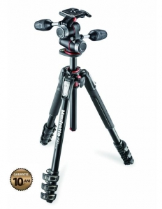 Manfrotto 190XPRO4-3W Kit trepied foto0