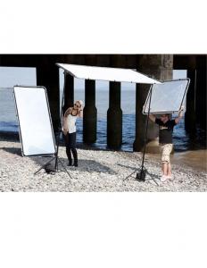Lastolite Skylite Rapid Kit Cadru cu panza Silver/White & Difuzie 1x1m [4]