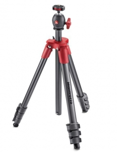 Manfrotto Kit trepied Compact Light Red, open box4