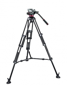 Manfrotto MVH502A,546BK Kit trepied video1