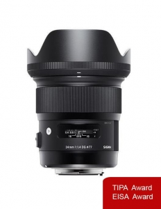 Pachet Sigma 24mm f 1.4 DG HSM Art Nikon + Manfrotto Monopied Element Red0