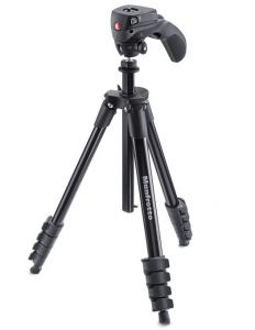 Manfrotto Compact Action trepied foto-video produs expus1