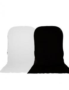Lastolite fundal pliabil Alb/Negru cu trena 1.8 x 2.15m