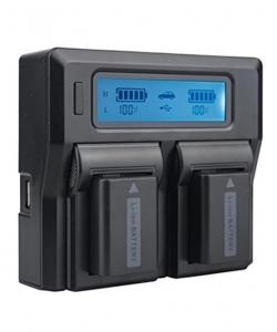 Digital Power Incarcator dual LCD Acumulator Sony NP-FW50