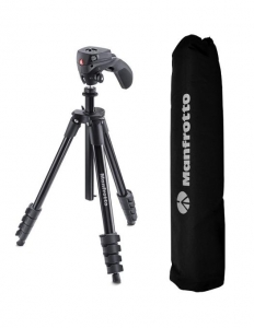 Manfrotto kit trepied Compact Action Black0
