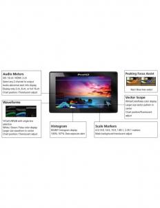 JVC Monitor 5.5 Inch 1920x1080 LCD FullHD video cinema  vectorscop, waveform monitor, histograma.led DT-X53F X53F [2]