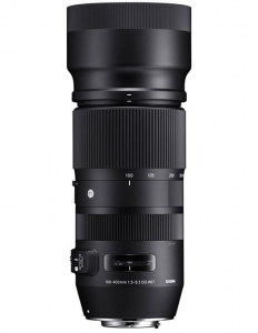 Pachet Sigma 100-400mm f 5-6.3 DG OS HSM C Canon + Manfrotto  monopied foto Element Red0