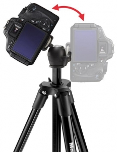 Manfrotto kit trepied Compact Light Black, open box3