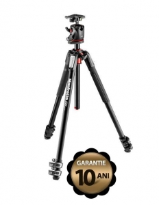 Pachet Manfrotto 190XPRO3 cu cap bila XPRO magneziu + Manfrotto Flex Arm 237 + Manfrotto LED Lumimuse 8