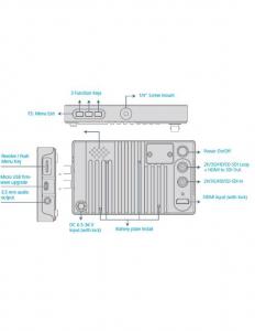 JVC Monitor 5.5 Inch 1920x1080 LCD FullHD video cinema  vectorscop, waveform monitor, histograma.led DT-X53F X53F [3]