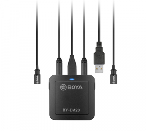 Boya BY-DM20 Kit lavaliera dubla pentru IOS si Android1