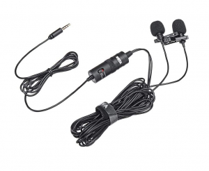 Boya BY-M1DM microfon lavaliera dubla3
