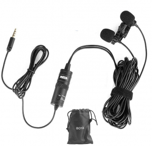 Boya BY-M1DM microfon lavaliera dubla