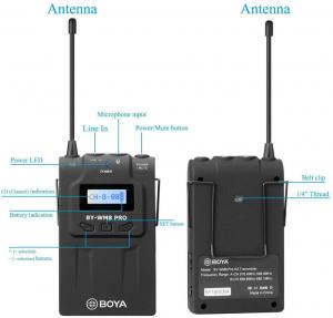 Boya BY-WM8 Pro K1 Kit lavaliera wireless UHF2