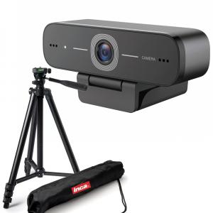 Kit Lector Camera Web Full HD 1080 USB 2MP microfon incorporat si trepied0