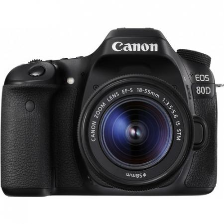 Canon EOS 80D Aparat Foto DSLR 24.2MP Kit cu Obiectiv EF-S 18-55 IS STM [0]