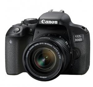 Canon EOS 800D Kit Aparat Foto DSLR 24.2MP cu Obiectiv EF-S 18-55mm f/4-5.6 IS STM