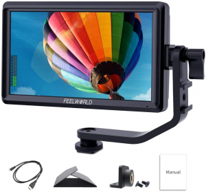 "FeelWorld S55 Monitor video 5.5"" IPS 4K HDMI"