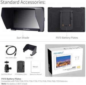 "FeelWorld T7 Monitor video 7"" 4K HDMI7"