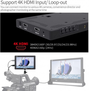 "FeelWorld T7 Monitor video 7"" 4K HDMI2"