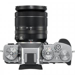 Fujifilm Kit Aparat Foto Mirrorless X-T3 cu Obiectiv Fujinon XF18-55mm f2.8-4 Argintiu3
