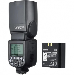 Godox Kit Blitz Ving V860IIC + acumulator - Canon