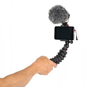 Kit vlogger pentru smartphone cu microfon6