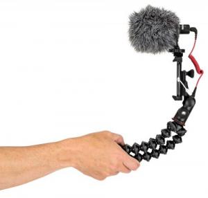 Kit vlogger pentru smartphone cu microfon8